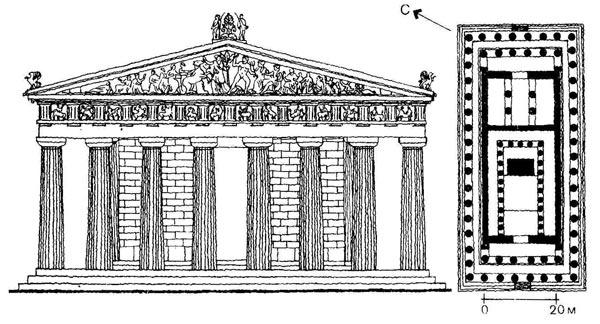 Храм Парфенон в Афинском